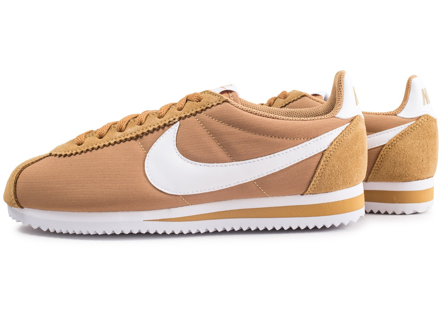 Nike Classic Cortez Nylon beige Chaussures Baskets homme