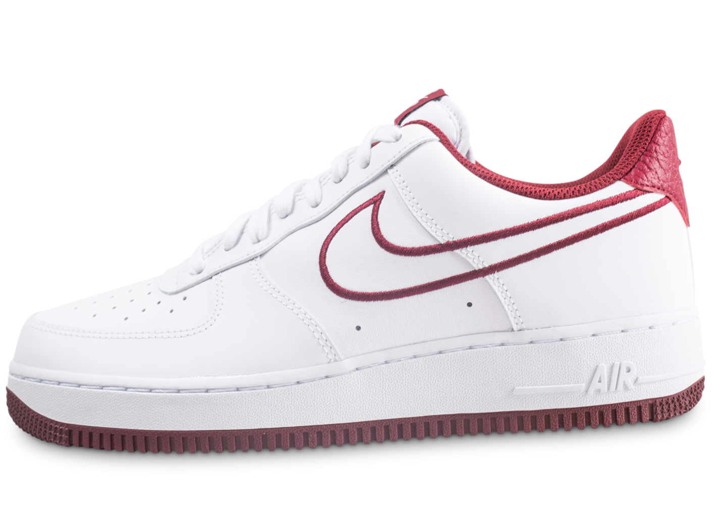 Nike Nike Air Force 1 '07 Leather blanc et rouge