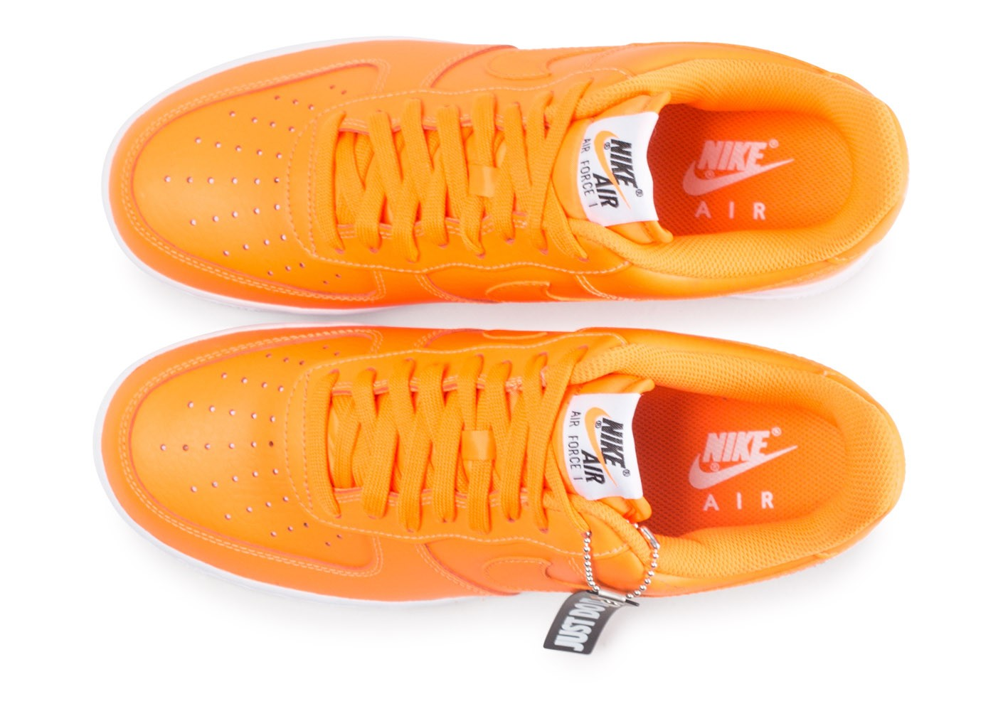 the latest f30b3 e16fb ... reduced chaussures nike air force 1 just do it orange vue arrière 4c1bc  bc639