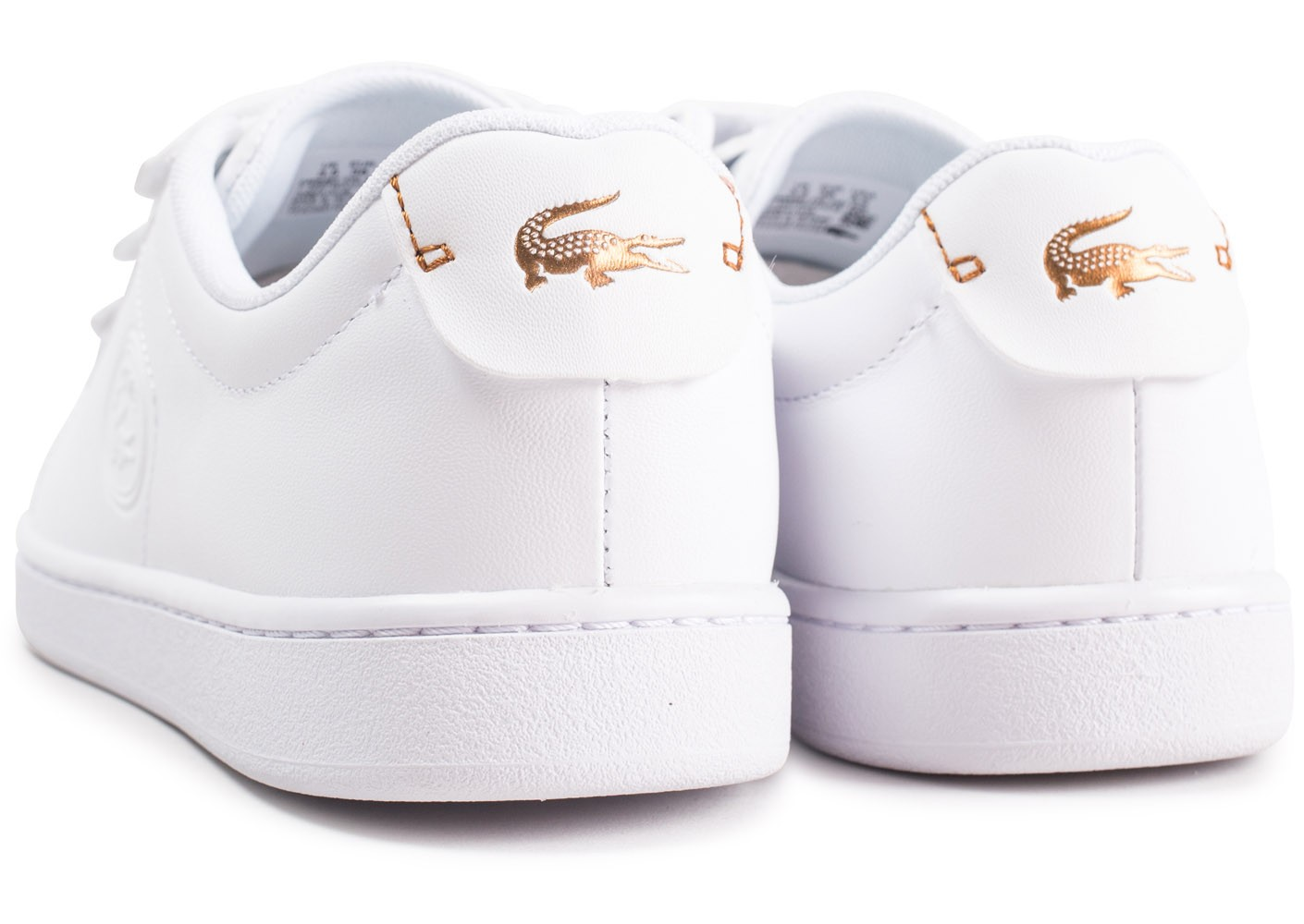 7f94f1eb87ed ... Chaussures Lacoste Carnaby Evo à scratch blanche femme vue dessous ...
