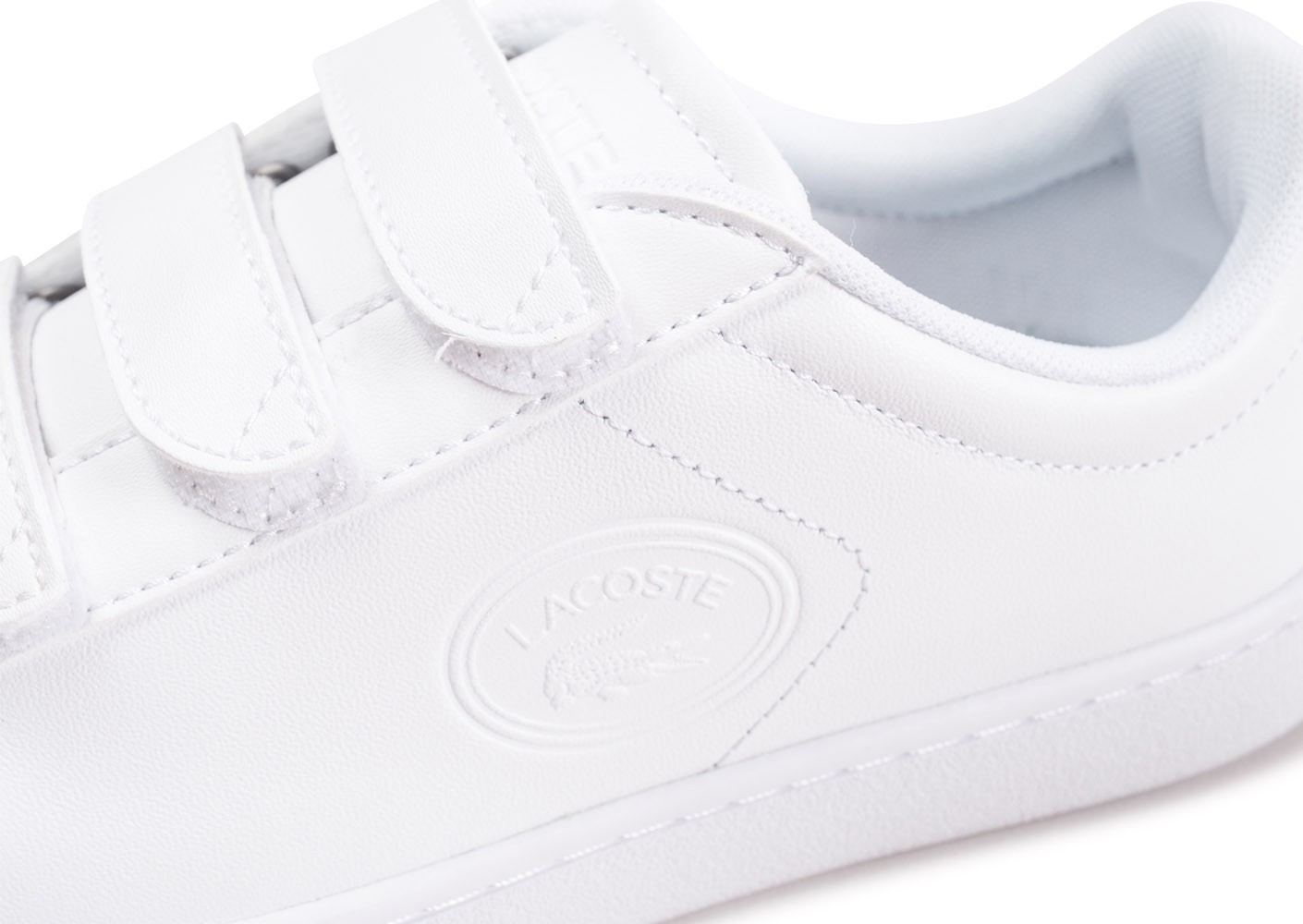 2cbd34ee5f70 Lacoste Carnaby Evo à scratch blanche femme - Chaussures Toutes les ...