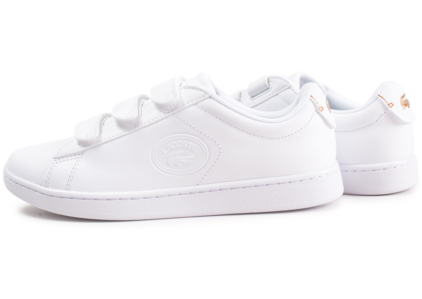 Lacoste Carnaby Evo à scratch blanche femme - Chaussures ...