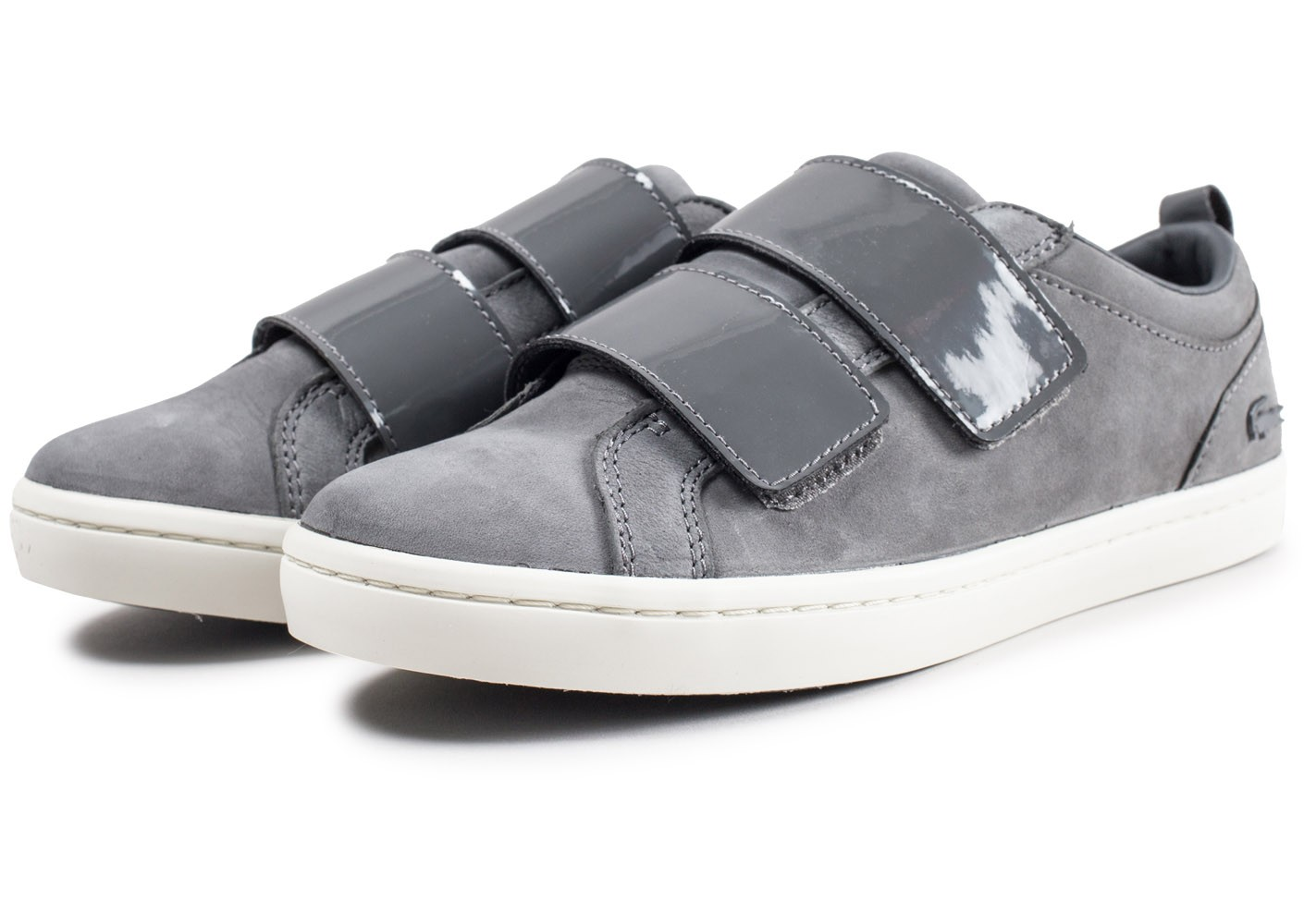 66bf1727aada ... Chaussures Lacoste Straightset Strap grise femme vue intérieure ...