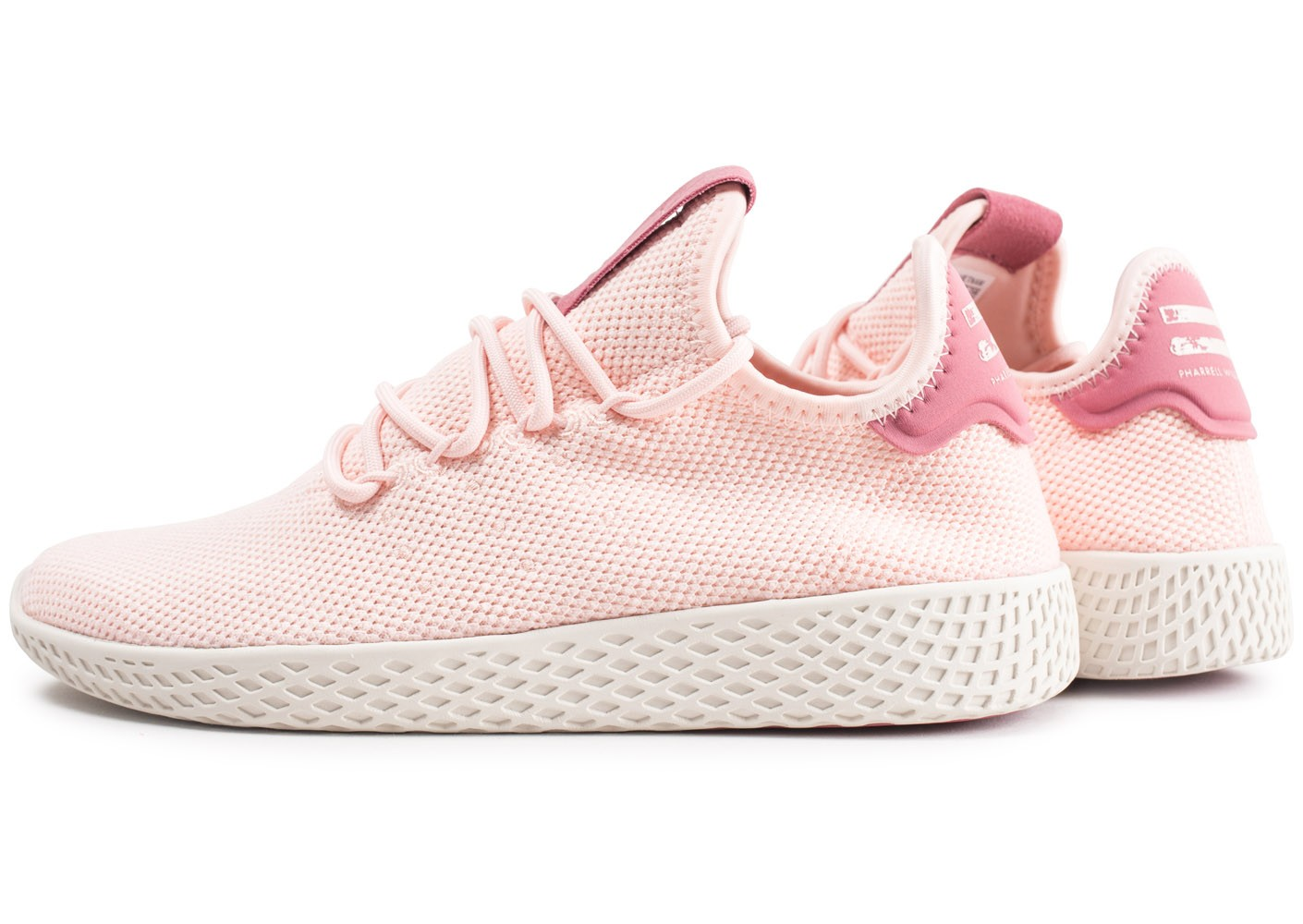 adidas Pharrell Williams Tennis Hu rose femme - Chaussures ...
