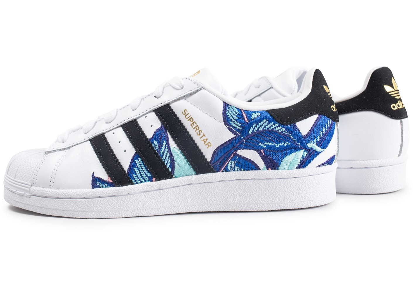 adidas Superstar Canvas bleue et blanche