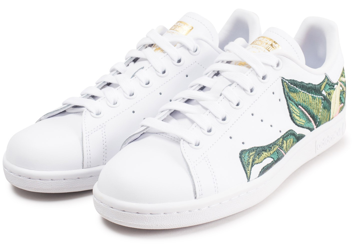 taille 40 1894d decad adidas Stan Smith The Farm Company blanche et verte femme ...