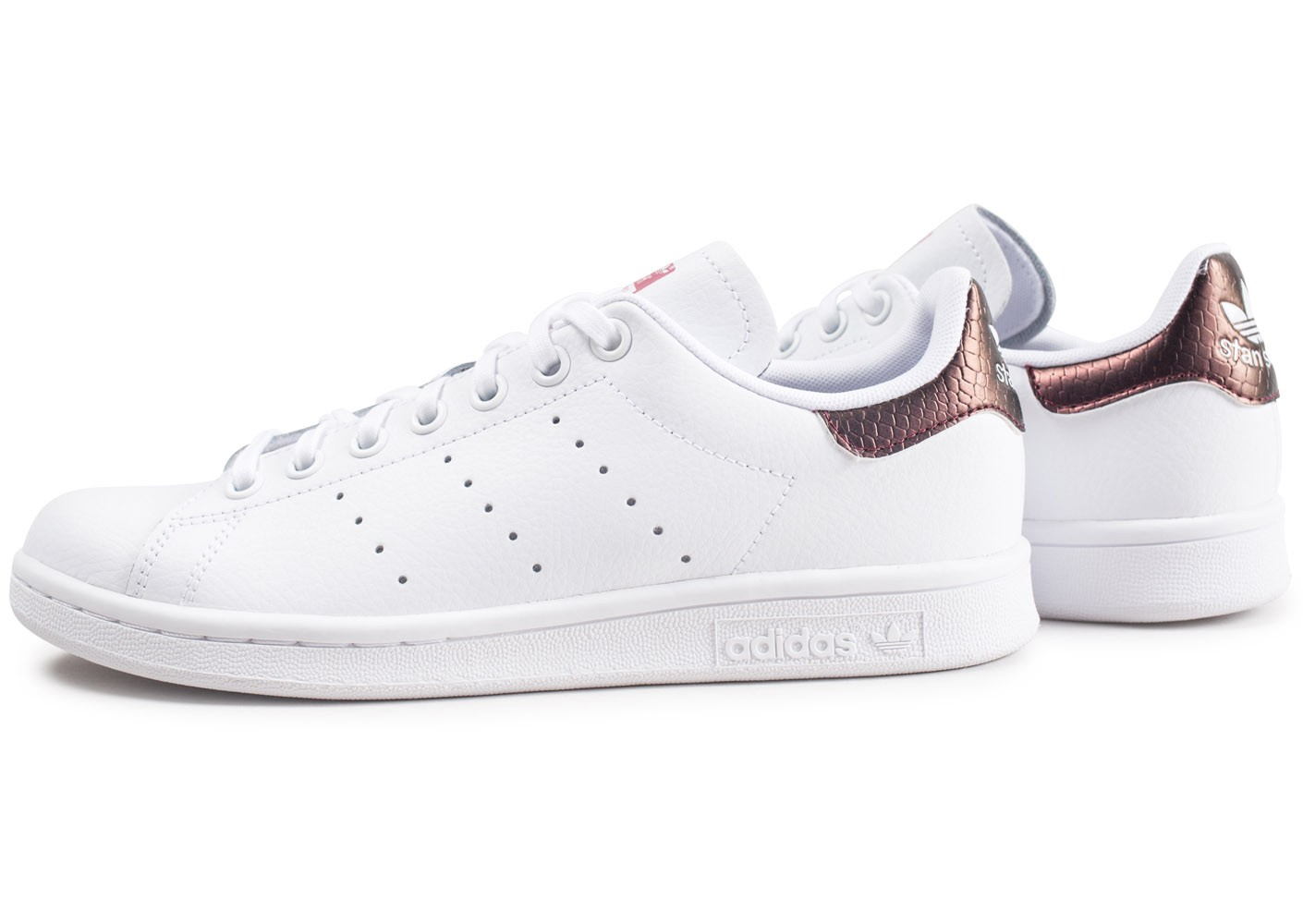 adidas Stan Smith snake blanche et marron junior