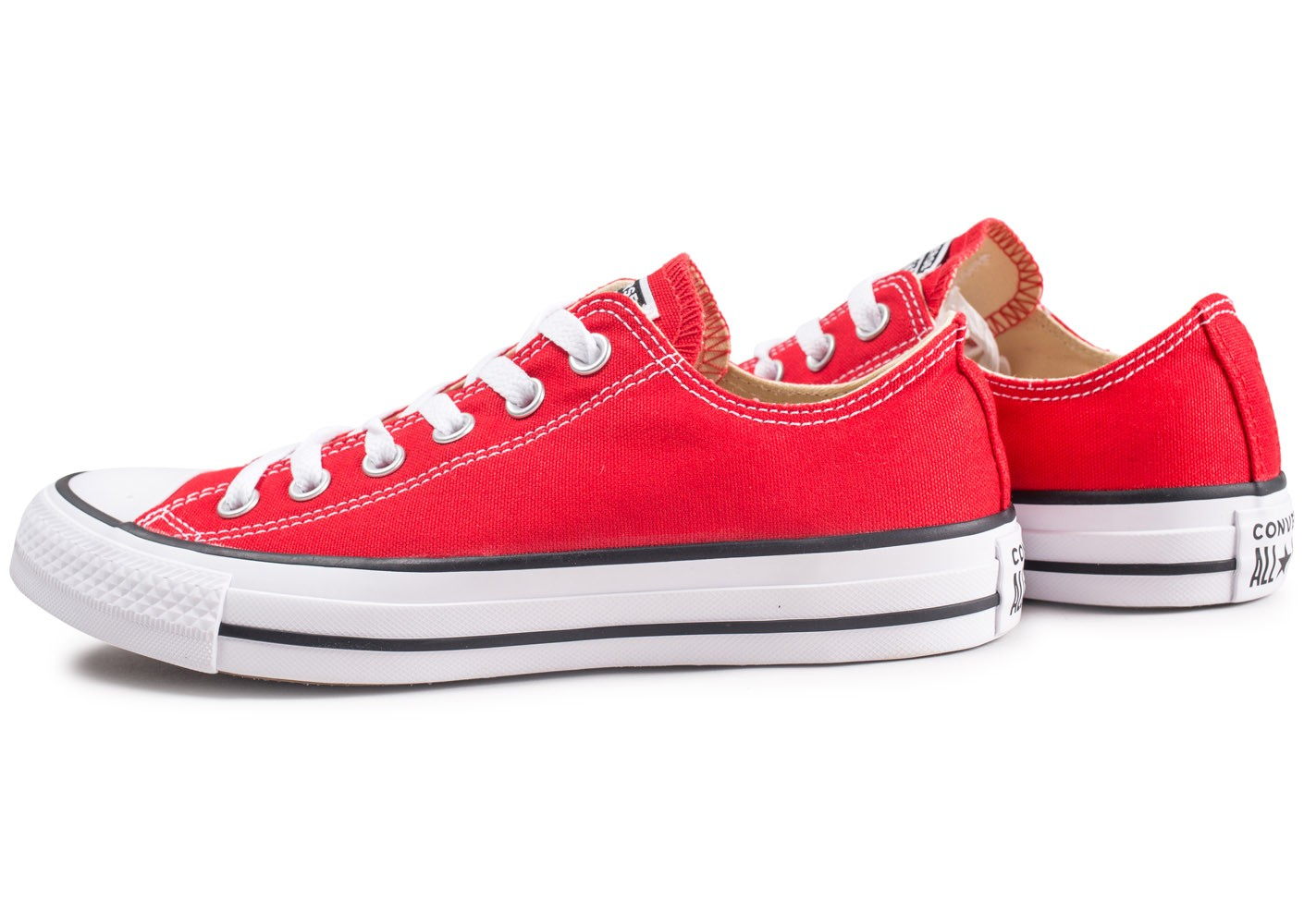 Converse Chuck Taylor All Star Low rouge - Chaussures ...