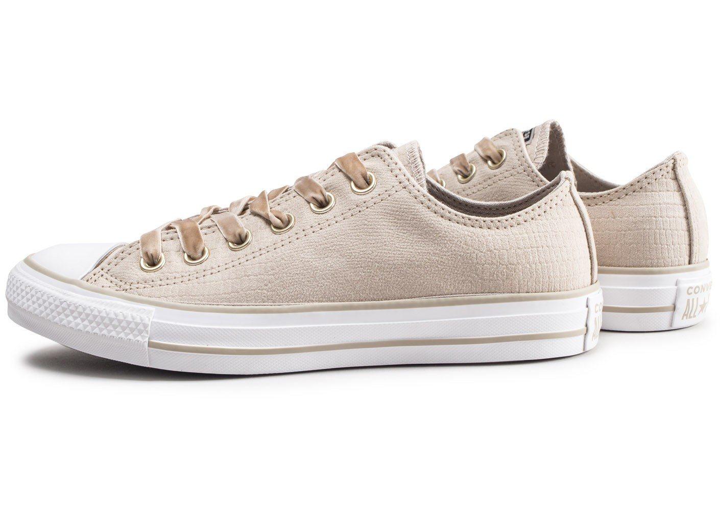 Converse Chuck Taylor All Star Low beige femme - Chaussures ...