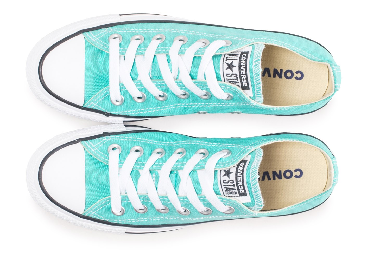 Converse Chuck Taylor All Star Low bleu turquoise ...