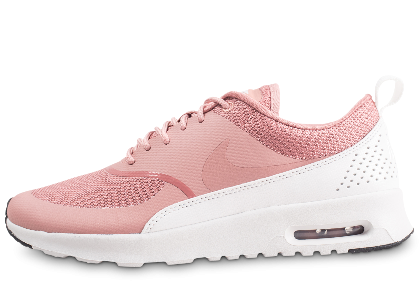 grossiste 01dfe 8c2ac Nike Air Max Thea rose et blanche femme