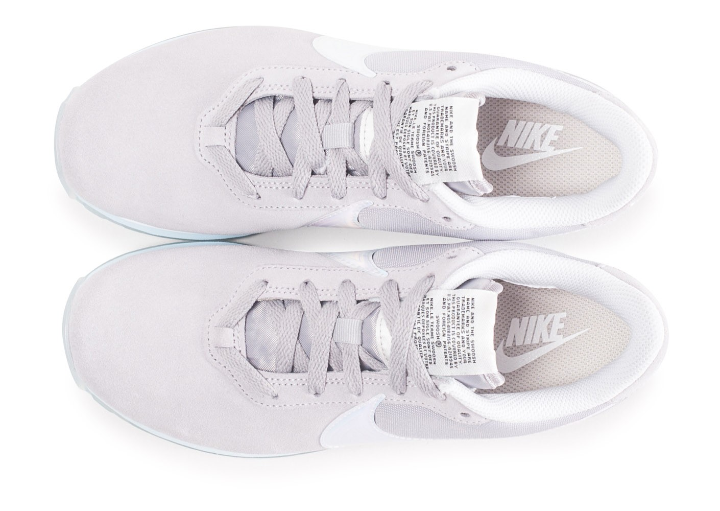 new style 4c1ac bcd3c ... Chaussures Nike Pre-Love O.X. gris femme vue arrière ...