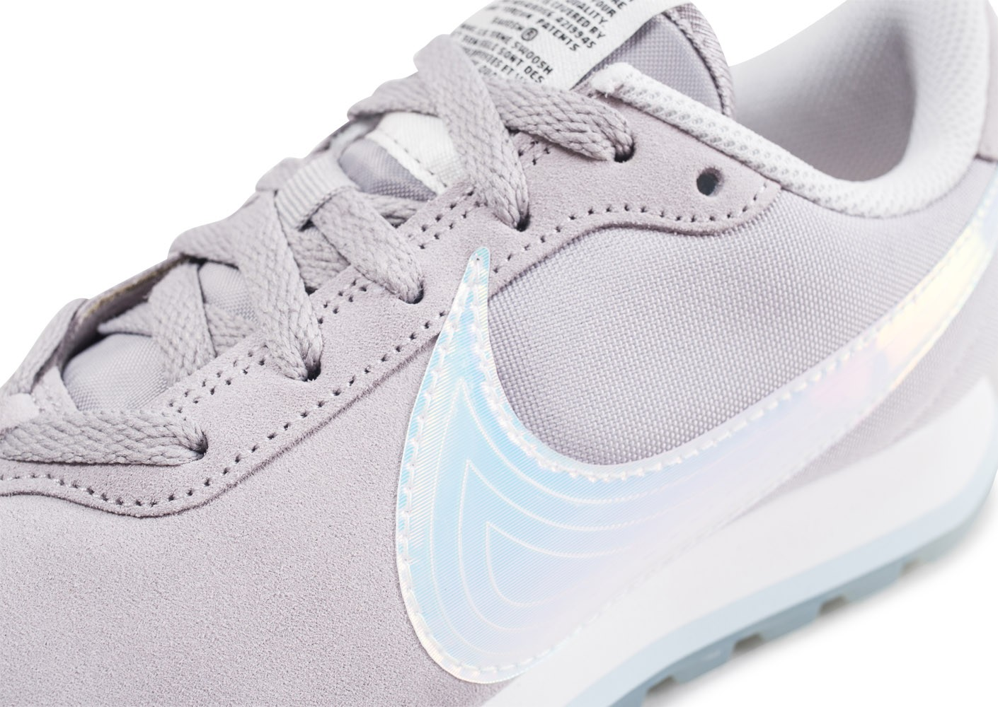 promo code bc6bc 978d6 ... Chaussures Nike Pre-Love O.X. gris femme vue dessus