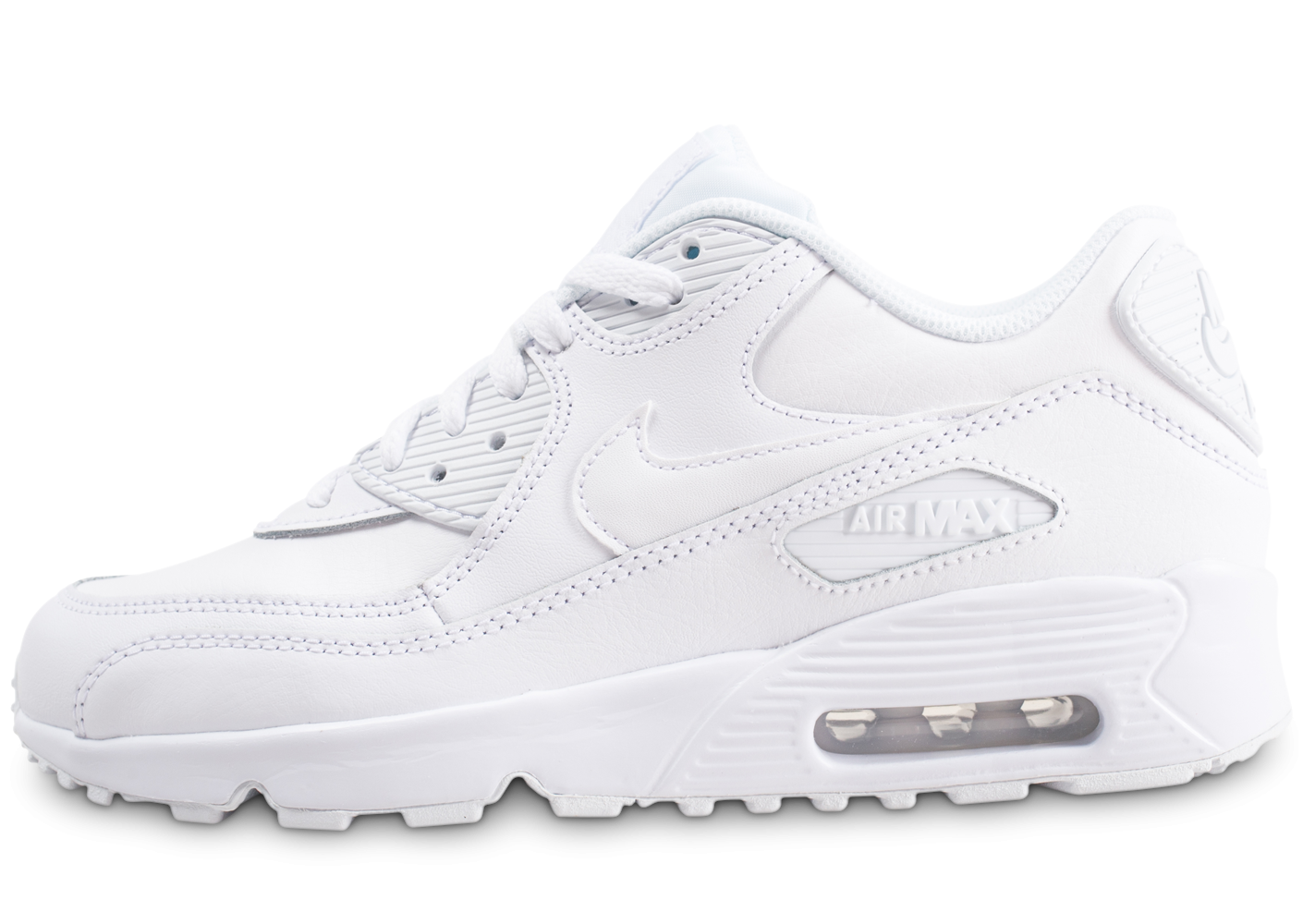 Nike Air Max 90 Leather blanc junior