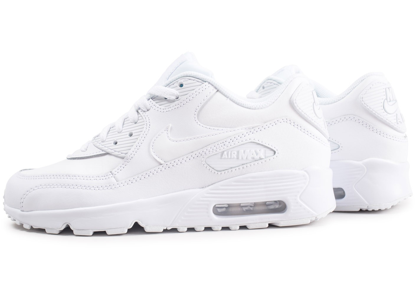 Basket et Running Nike Air Max 90 Leather Junior blanche et