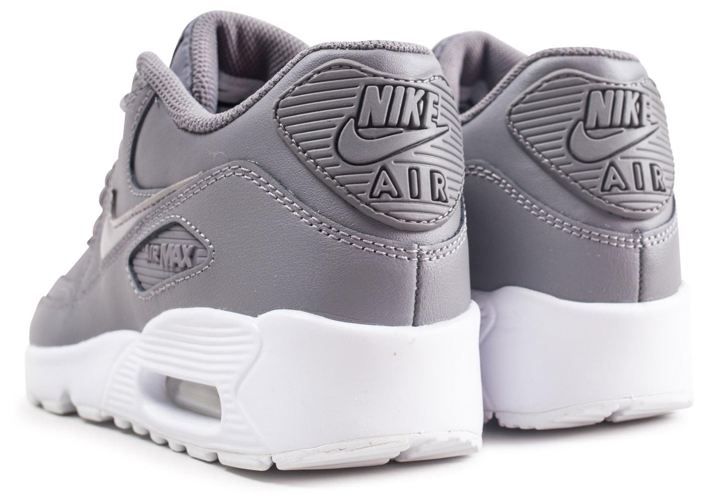 Baskets Nike Air 90 Chaussures Junior Les Grise Max Leather