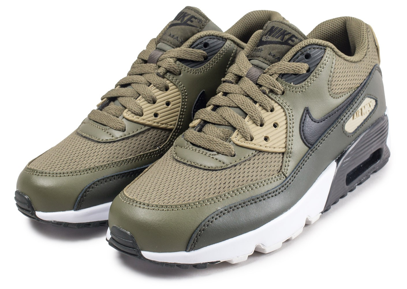 huge selection of a7fbb 9a709 ... Chaussures Nike Air Max 90 kaki junior vue intérieure ...