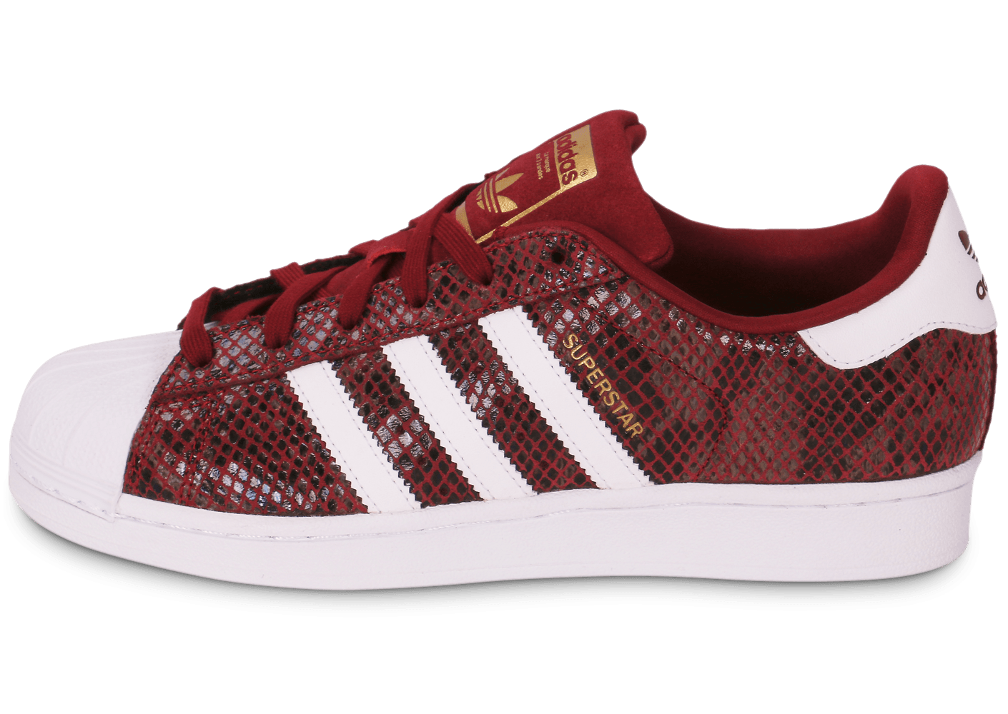 superstar rouge bordeaux femme