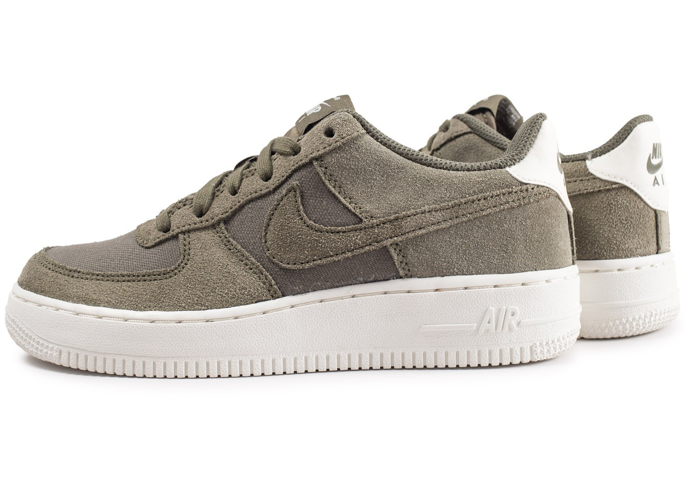 Force 1 Les Baskets Toutes Air Chaussures Suede Nike Kaki Junior 6bf7gy