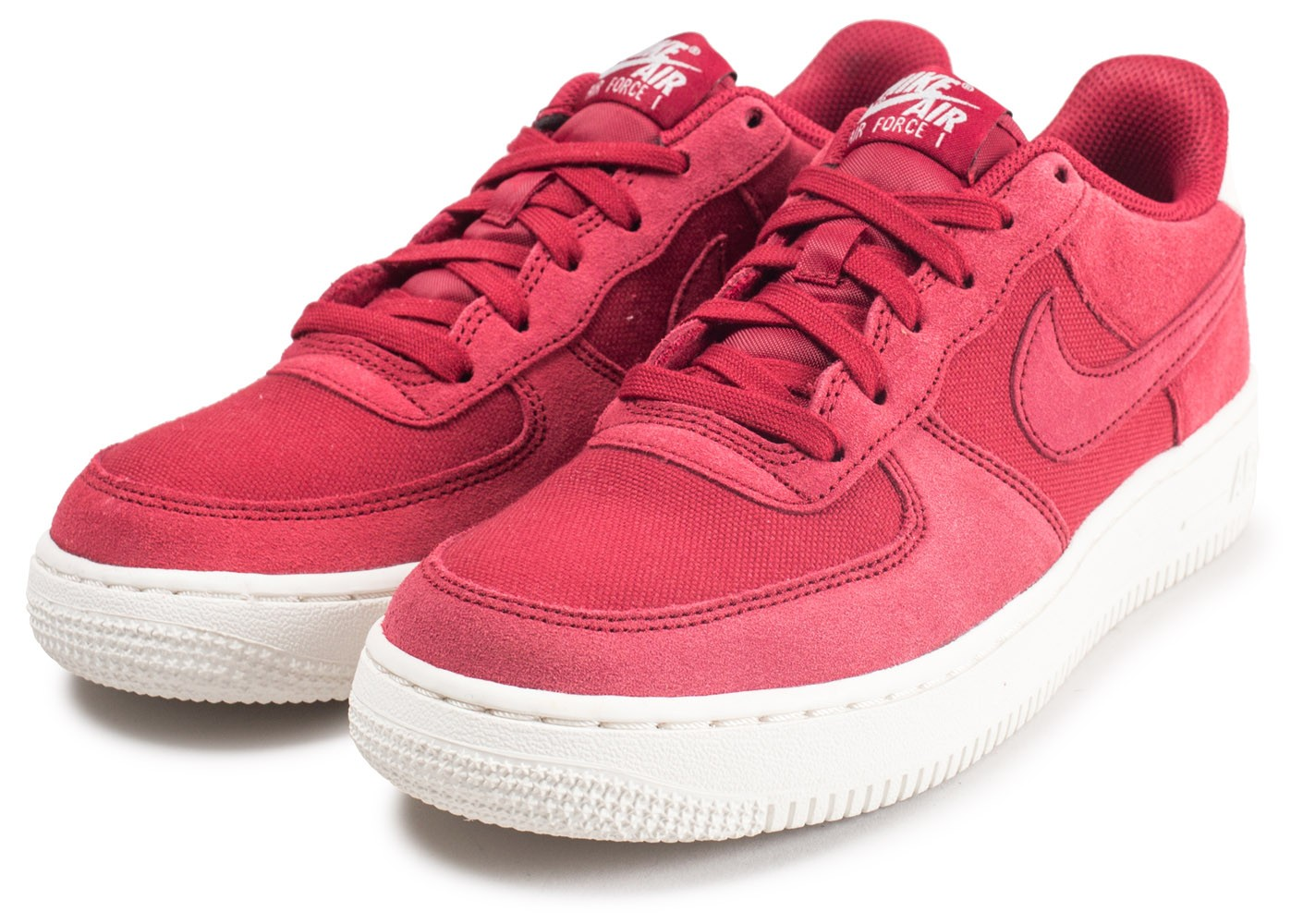 Nike Air Force 1 Suede rouge junior Chaussures Toutes les