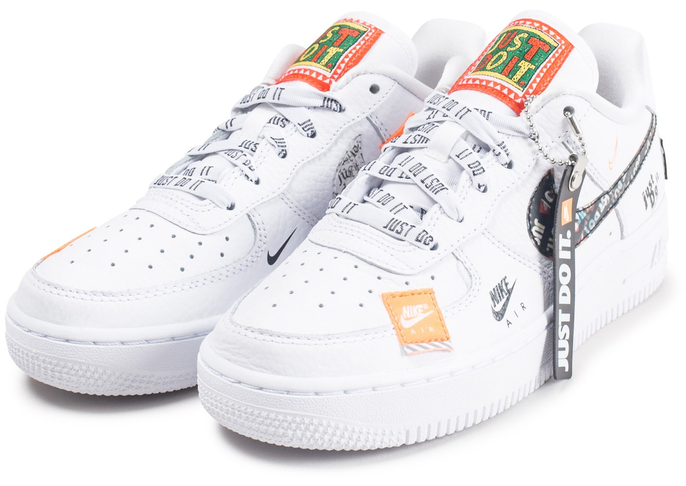 online retailer 00ab6 fe679 Chaussures Nike Air Force 1 Just Do It Premium blanche junior vue intérieure  ...
