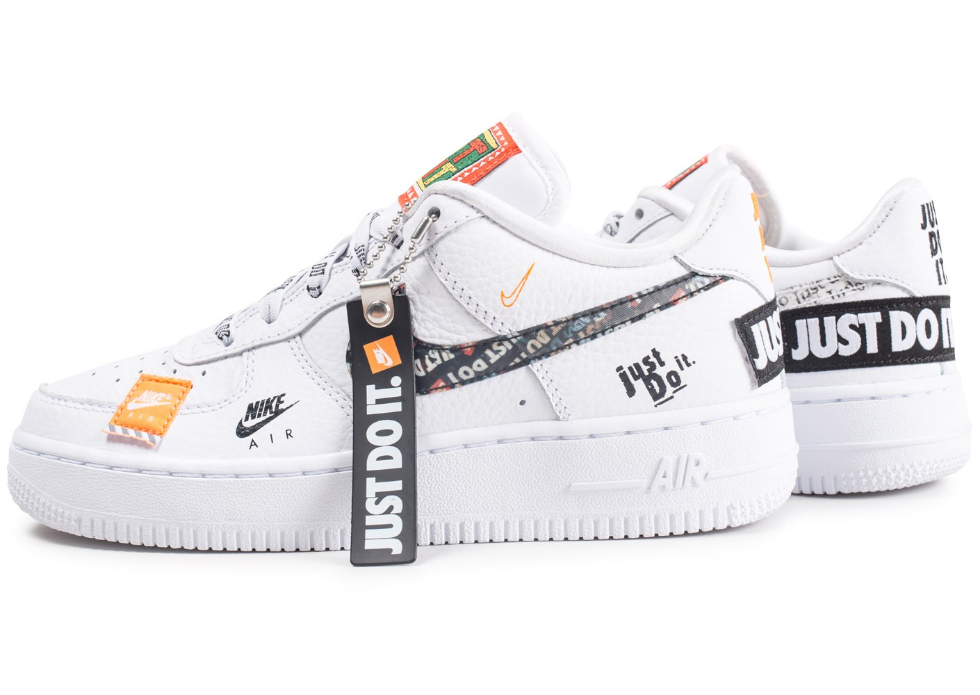 Nike Air Force 1 Just Do It Premium blanche junior ...
