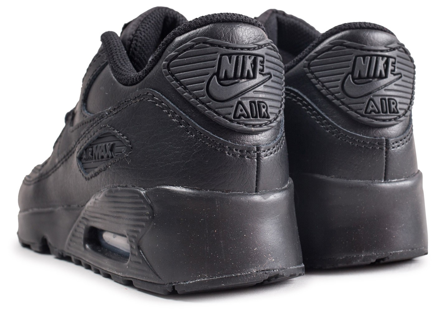 info for 40fbe e8ffb ... Chaussures Nike Nike Air Max 90 Leather Pre-School noire enfant vue  dessous ...