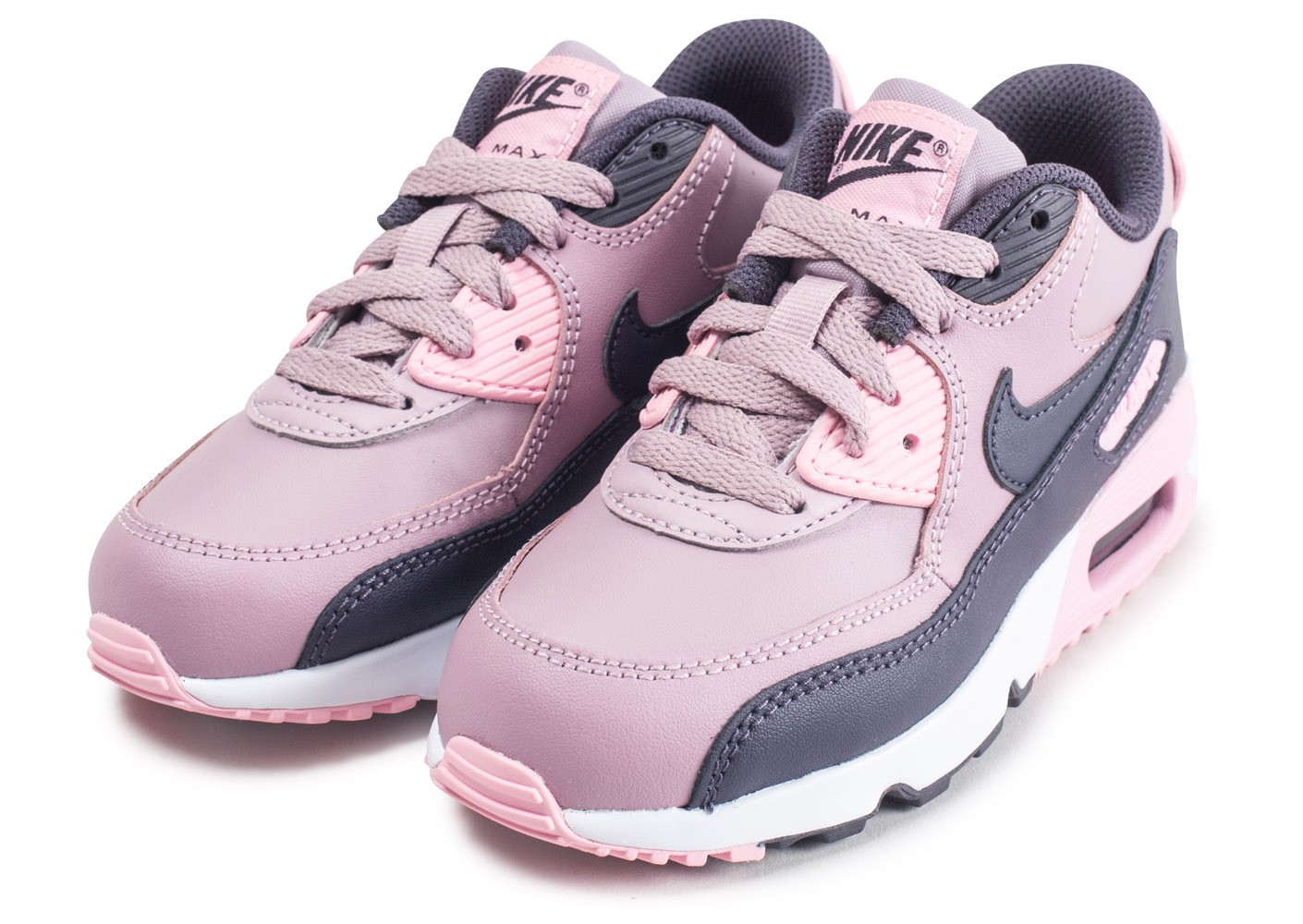 free shipping e848a f003a ... Chaussures Nike Air Max 90 Leather Pre-School rose enfant vue  intérieure ...