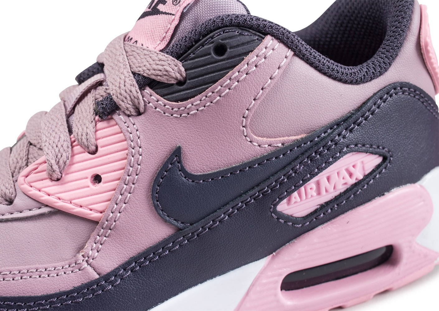 new arrival f347b deacb ... Chaussures Nike Air Max 90 Leather Pre-School rose enfant vue dessus