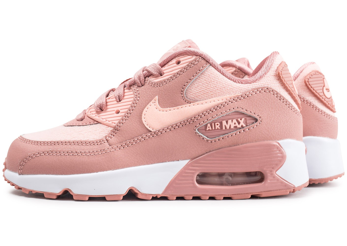 low cost pretty nice look out for Nike Air Max 90 SE Mesh Pre-School rose enfant - Chaussures ...