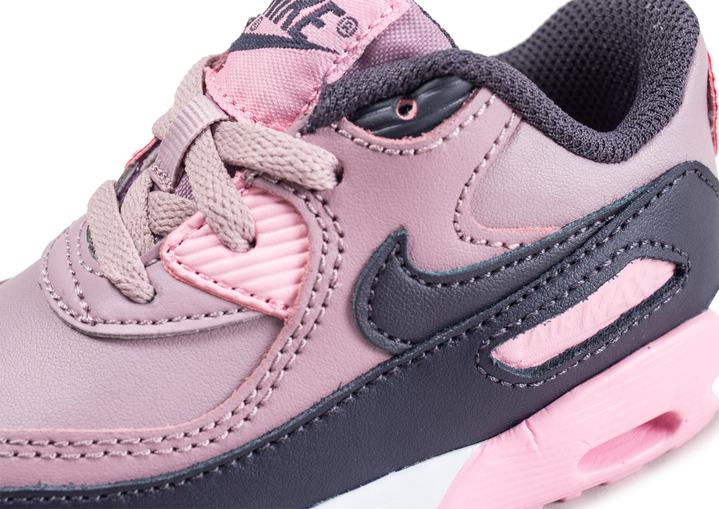 the latest 35672 3be38 ... Chaussures Nike Air Max 90 Leather rose bébé vue dessus