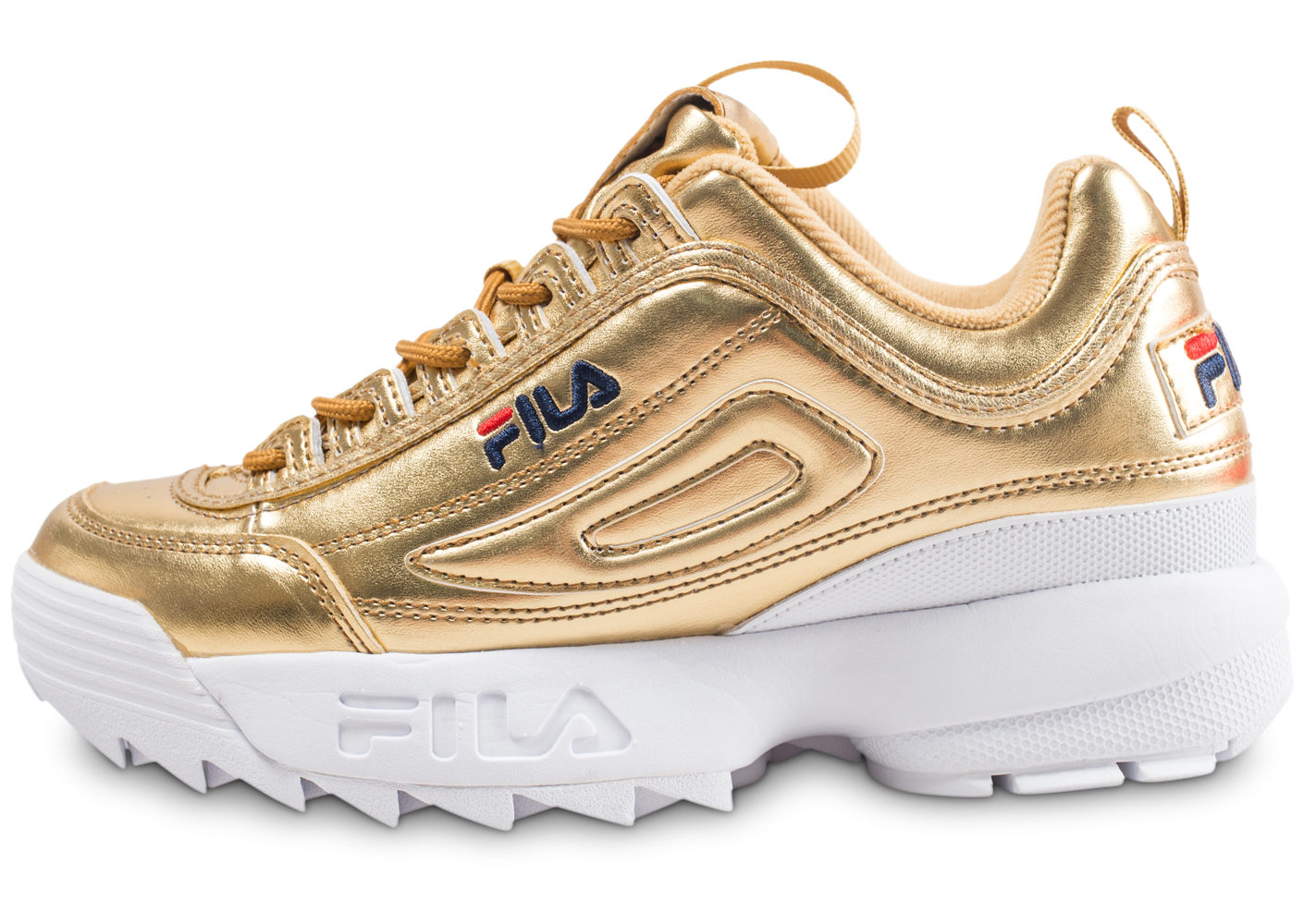 Fila Disruptor 2 Premium Metallic Or , Chaussures Baskets femme , Chausport