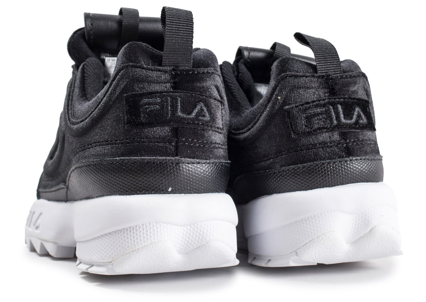 Velours Noire Femme Chaussures Premium Baskets Fila Disruptor 2 W29IHED
