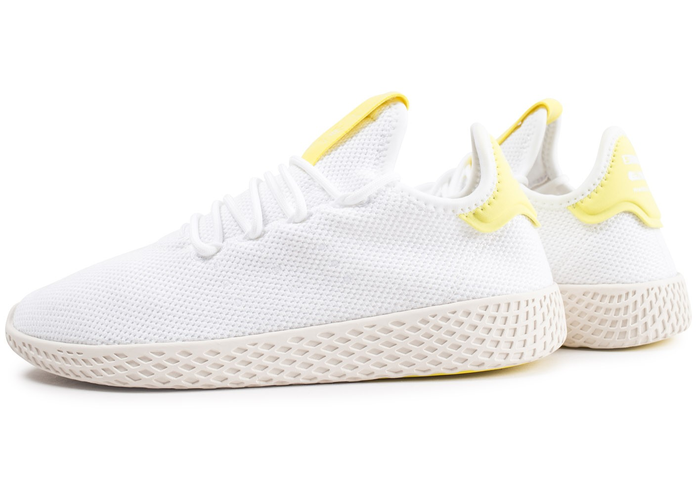 exclusive range low price sale purchase cheap adidas Pharrell Williams Tennis Hu blanche et jaune enfant ...