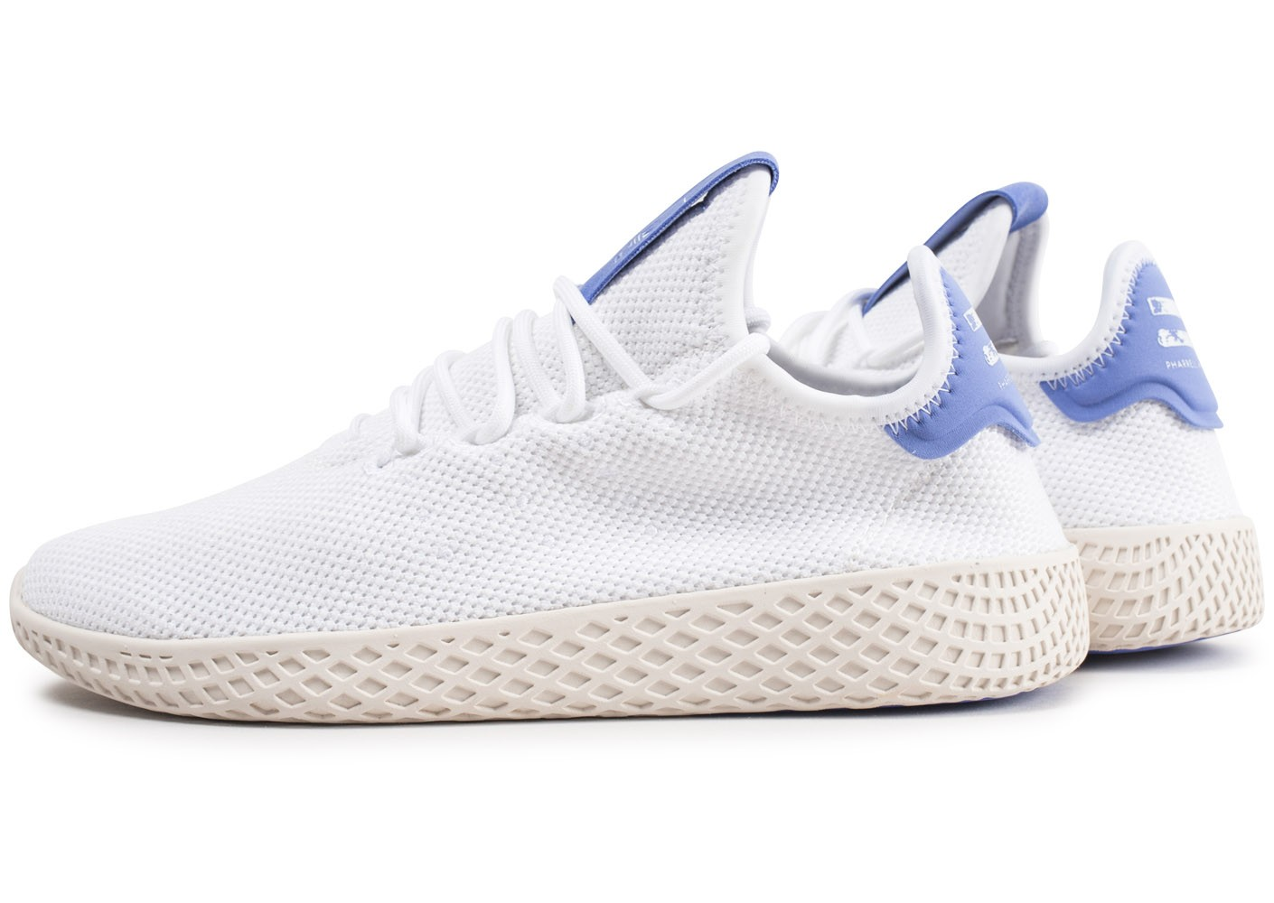 coupon codes cost charm fast delivery adidas Pharrell Williams Tennis Hu blanche et bleue enfant ...