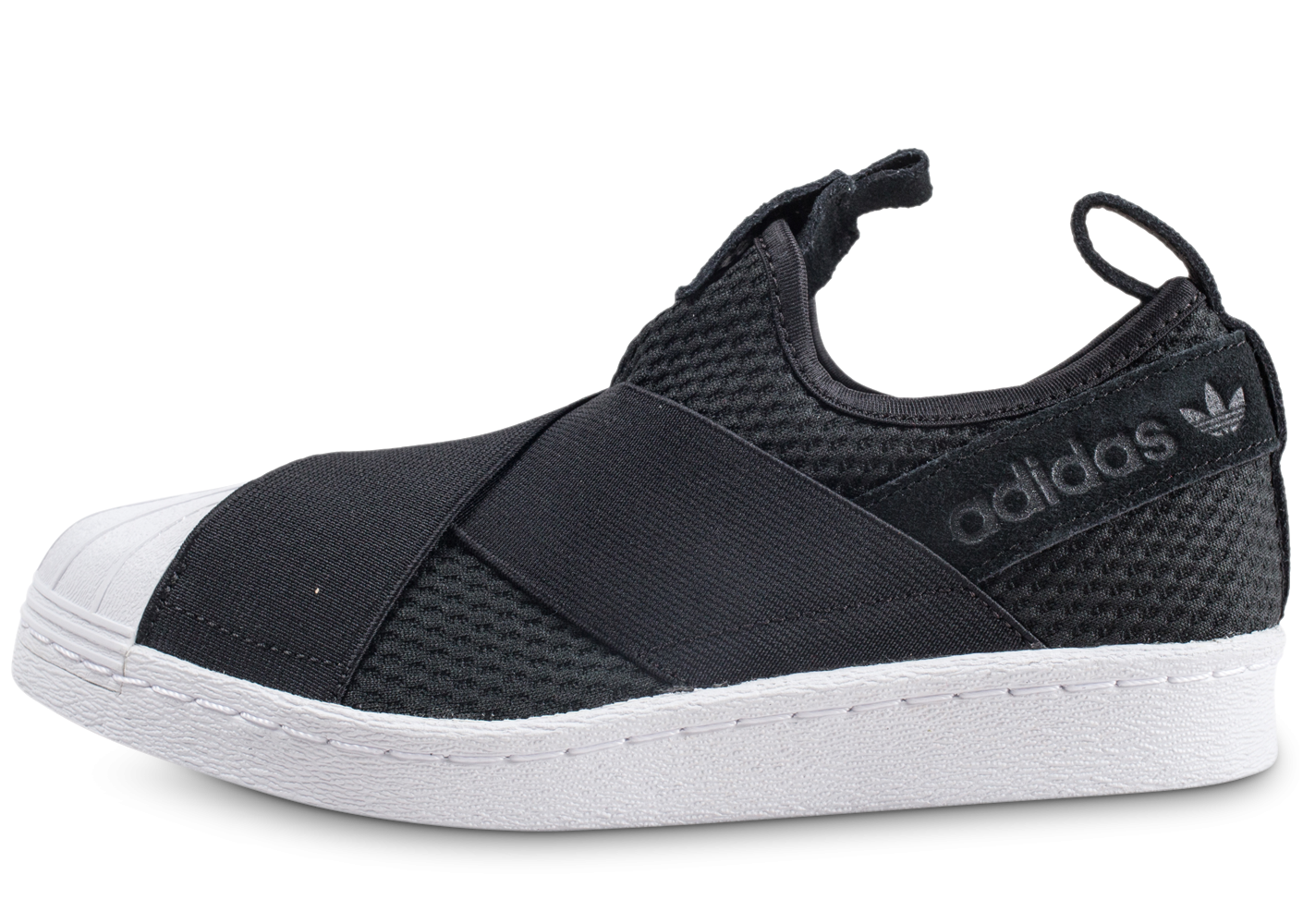 nouveau style c3458 3c65f adidas Superstar Slip-on core black et blanc femme