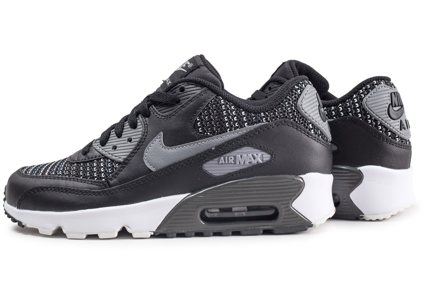hot product the sale of shoes low price sale Nike Air Max 90 Mesh noir et grise junior - Chaussures Enfant ...