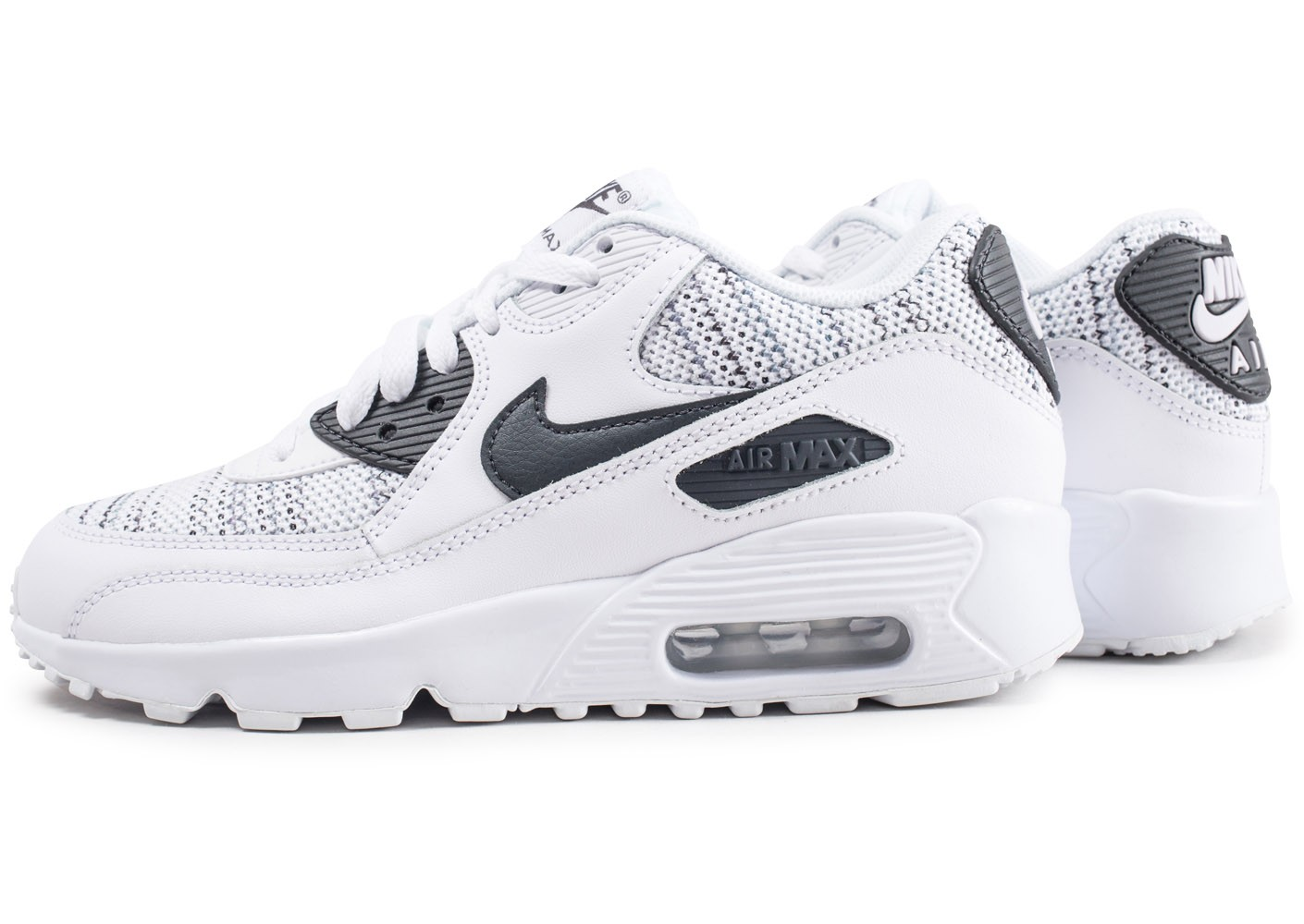 magasin en ligne aa871 422aa Nike Air Max 90 Mesh blanche et grise junior - Chaussures ...