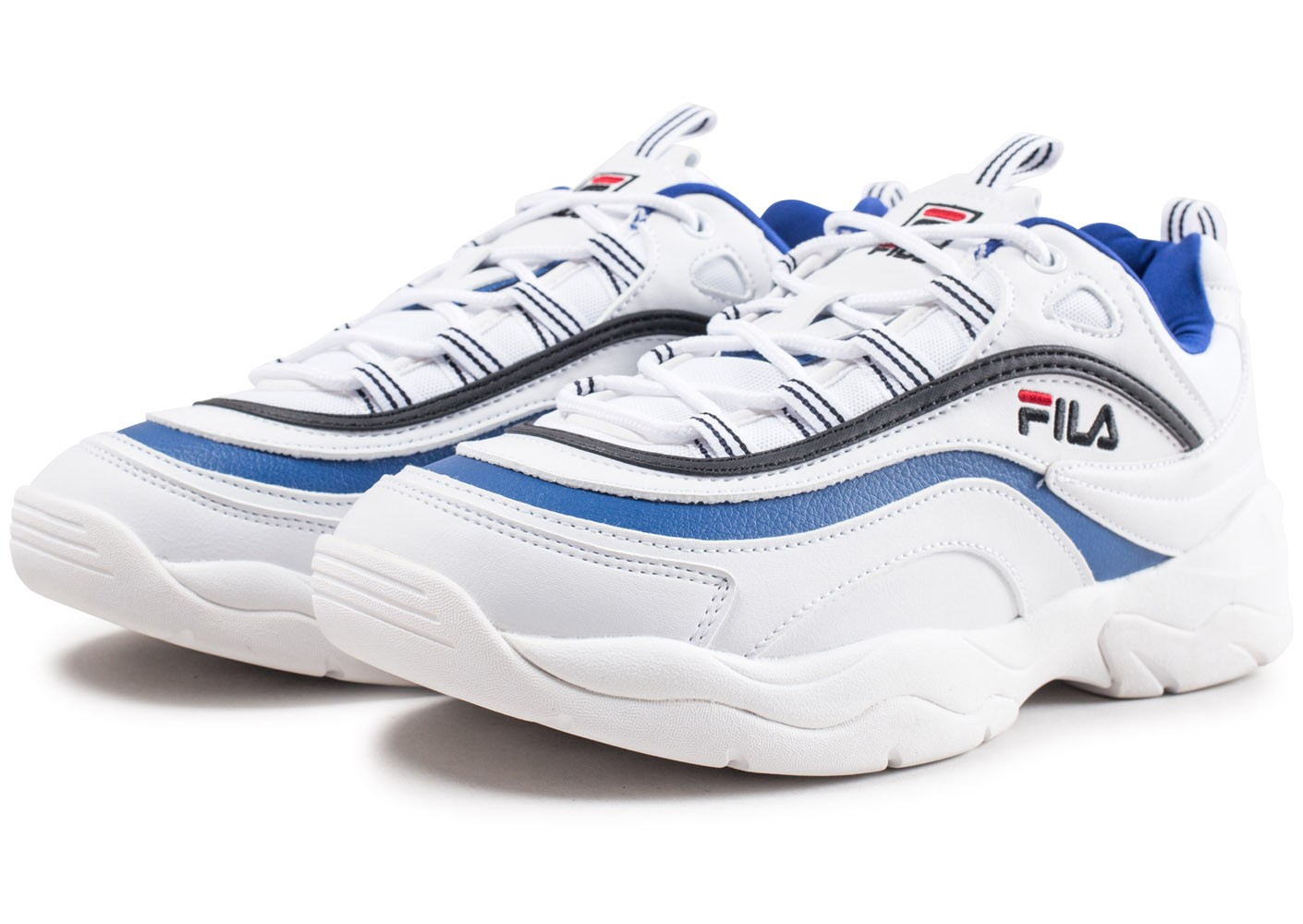 Homme Blanche Fila Ray Bleue Baskets Chausport Chaussures Et 3jqc4RL5A