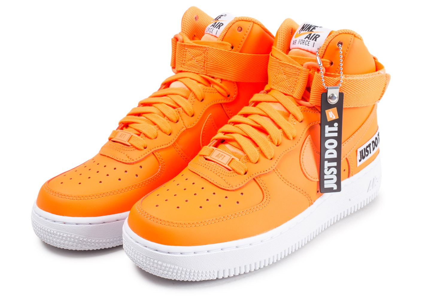 hot sale online 4ec38 bfd0b ... Chaussures Nike Air Force 1 High LX Leather JDI orange femme vue  intérieure ...