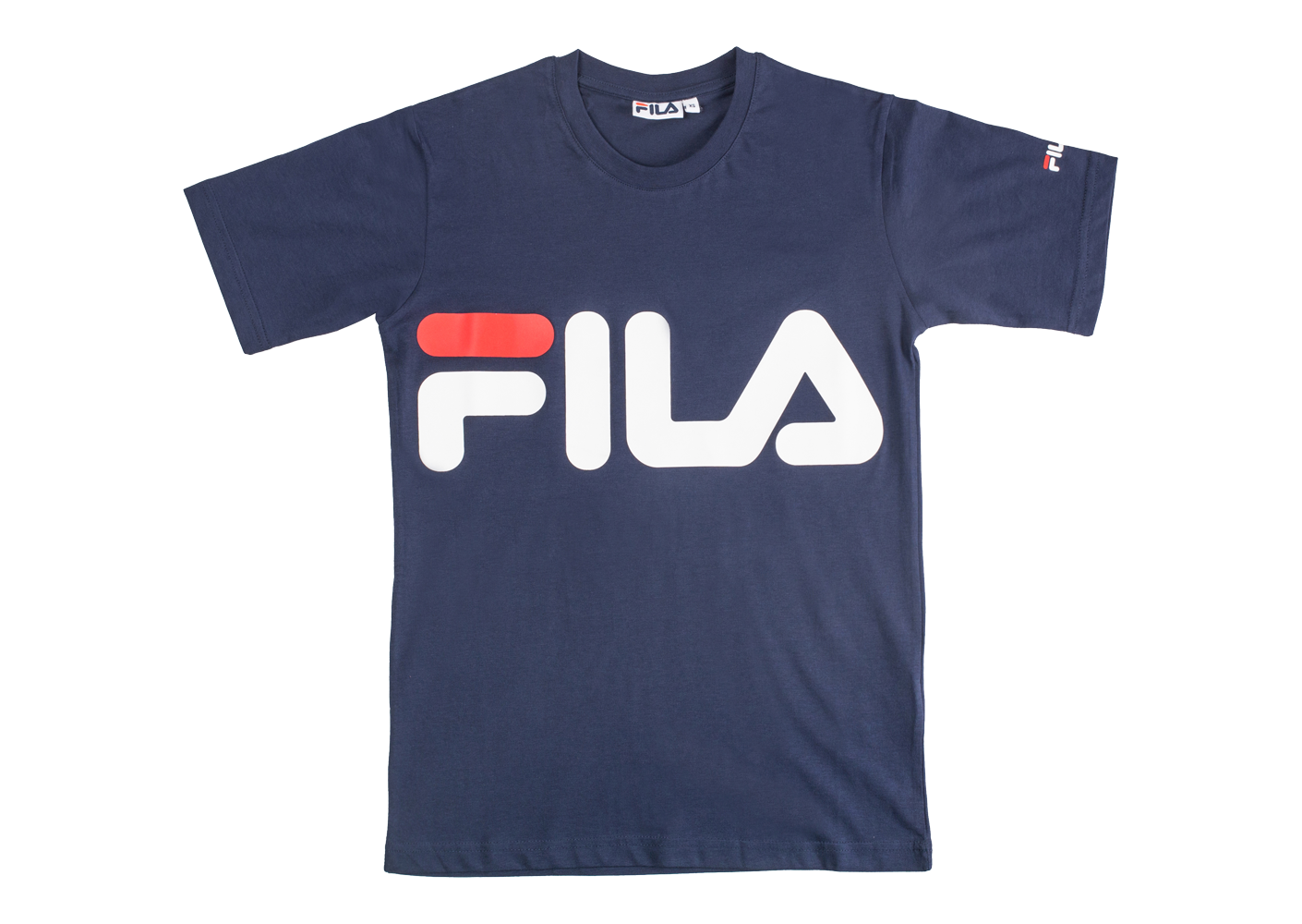 fila t shirt classic logo bleu marine mixte nouveaut s. Black Bedroom Furniture Sets. Home Design Ideas