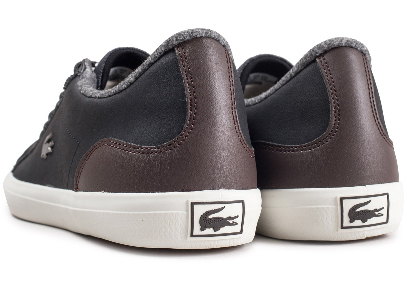 lacoste lerond 318 noires fourr es chaussures baskets homme chausport. Black Bedroom Furniture Sets. Home Design Ideas
