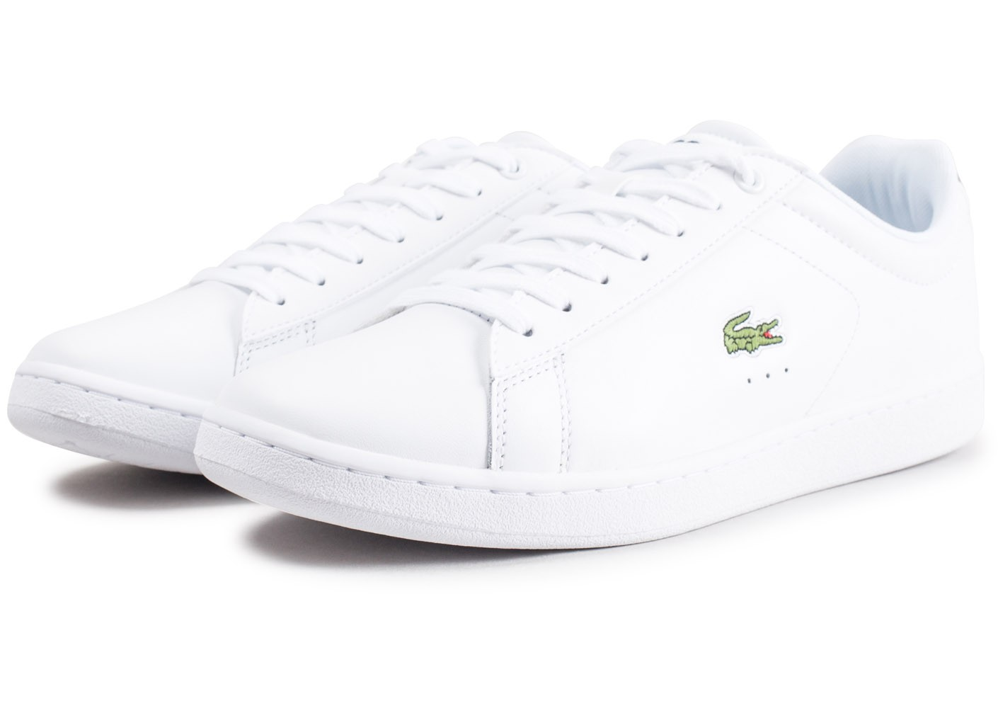 6a831d0eff9d Lacoste Carnaby Evo cuir blanc - Chaussures Baskets homme - Chausport