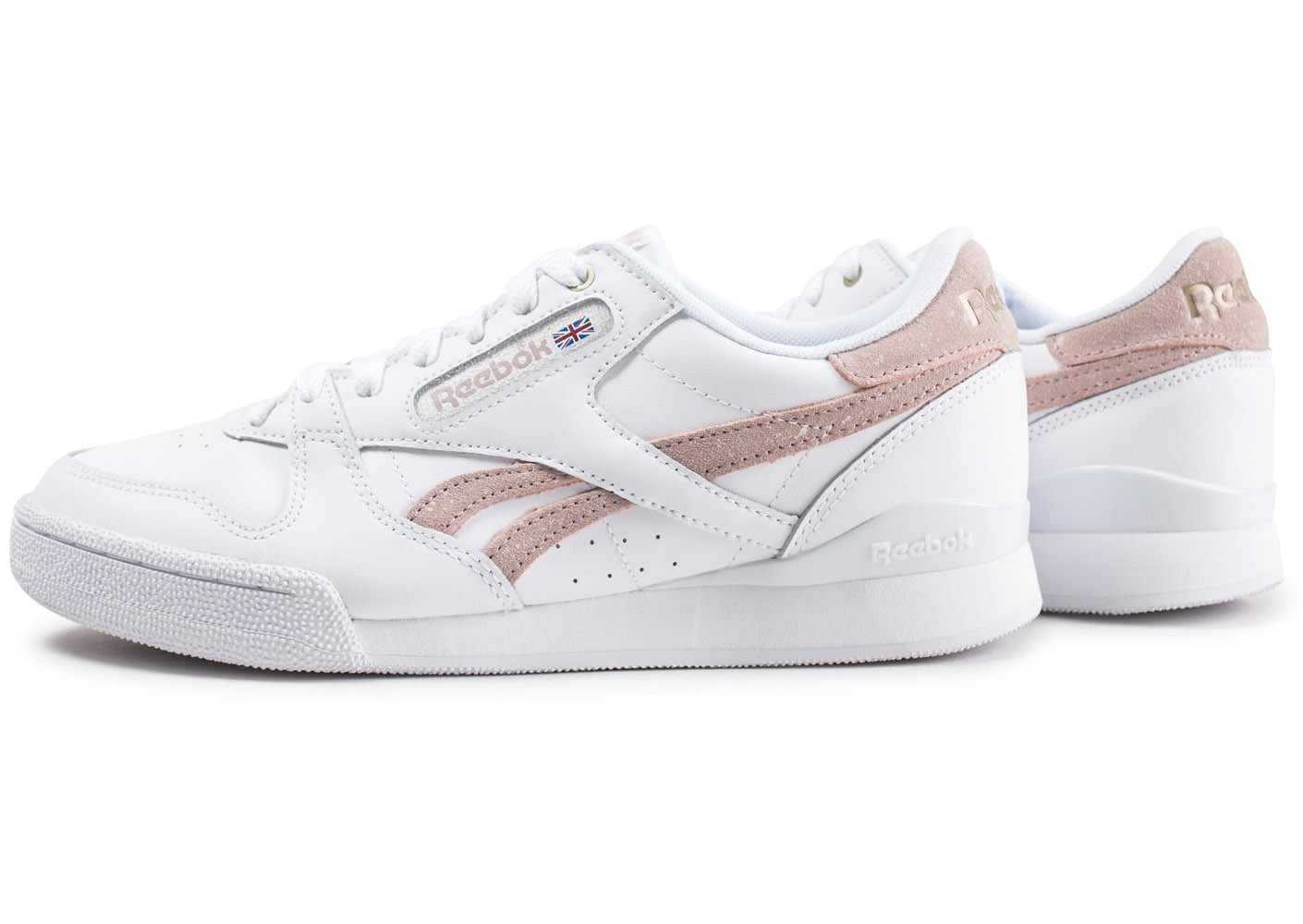 Reebok Phase 1 Pro X Montana Cans blanche et rose