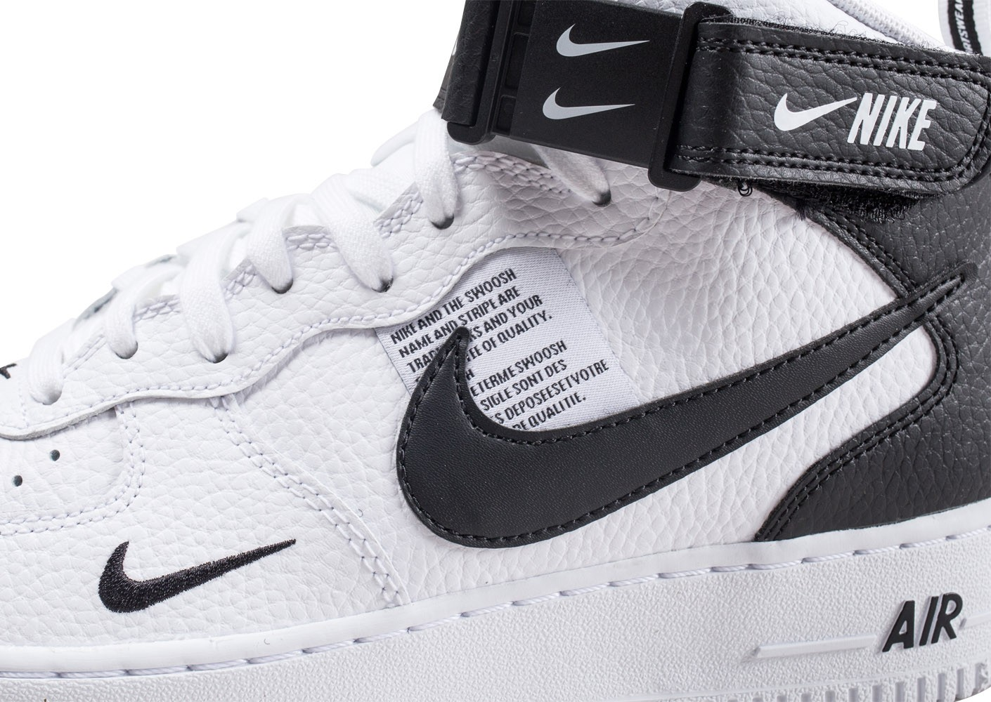 Nike Mid 07 Chaussures Air Blanche Force 1 Lv8 Et Noire