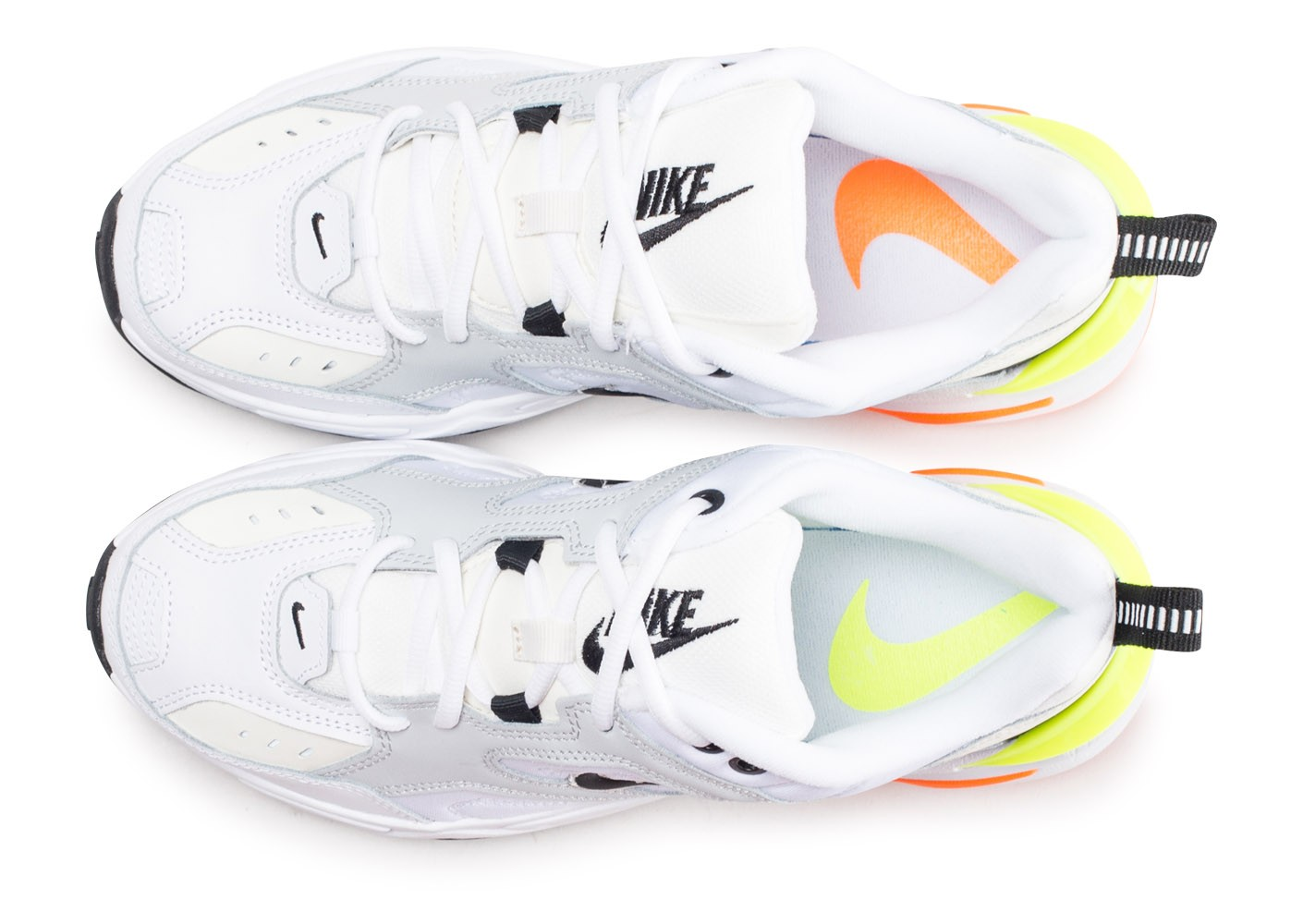 Nike M2K Tekno Pure Platinium Volt Orange Chaussures