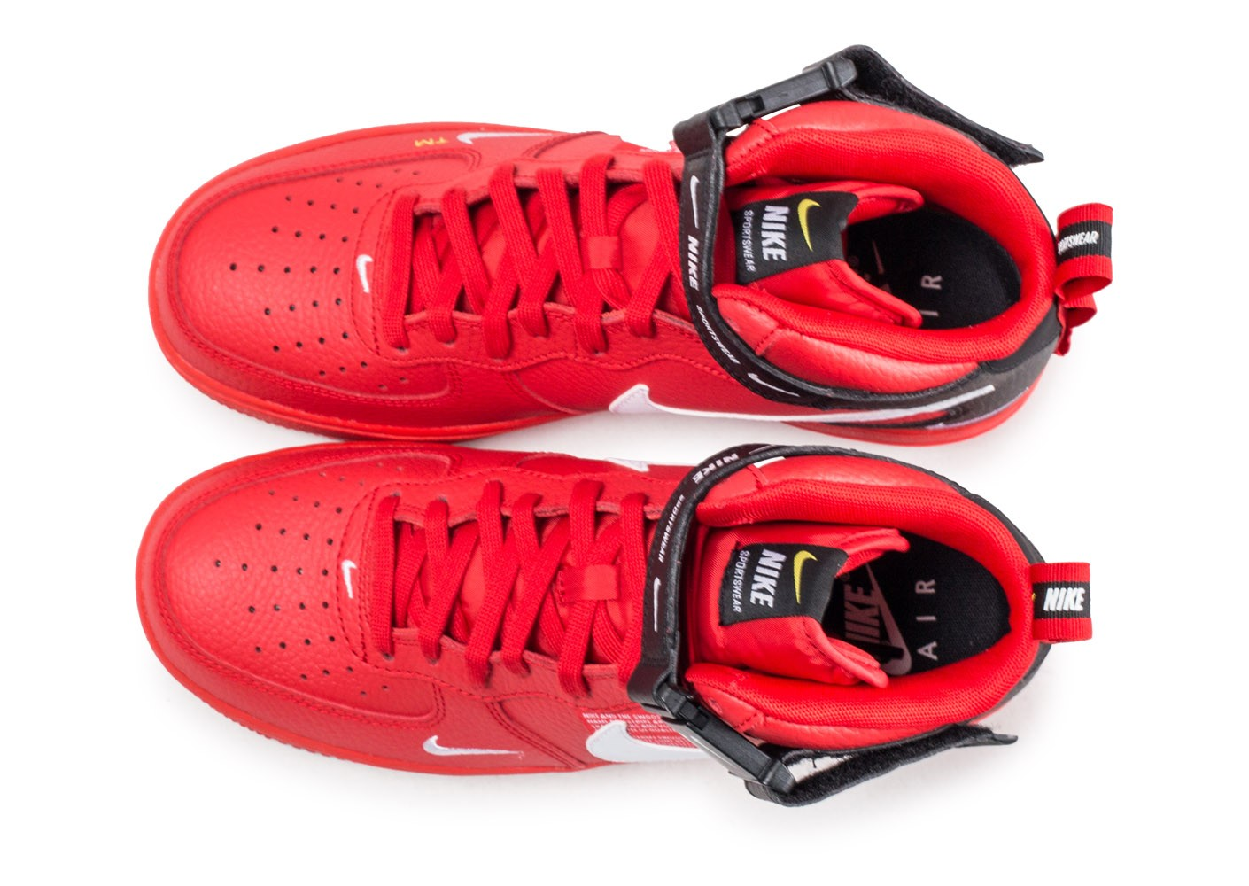 separation shoes 4996d 3617b ... Chaussures Nike Nike Air Force 1 07 Mid LV8 Utility rouge vue arrière  ...