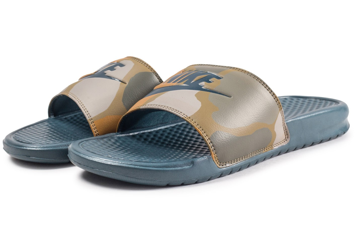 timeless design 0068f fa093 ... Chaussures Nike Sandales Benassi Printed marron vue intérieure ...