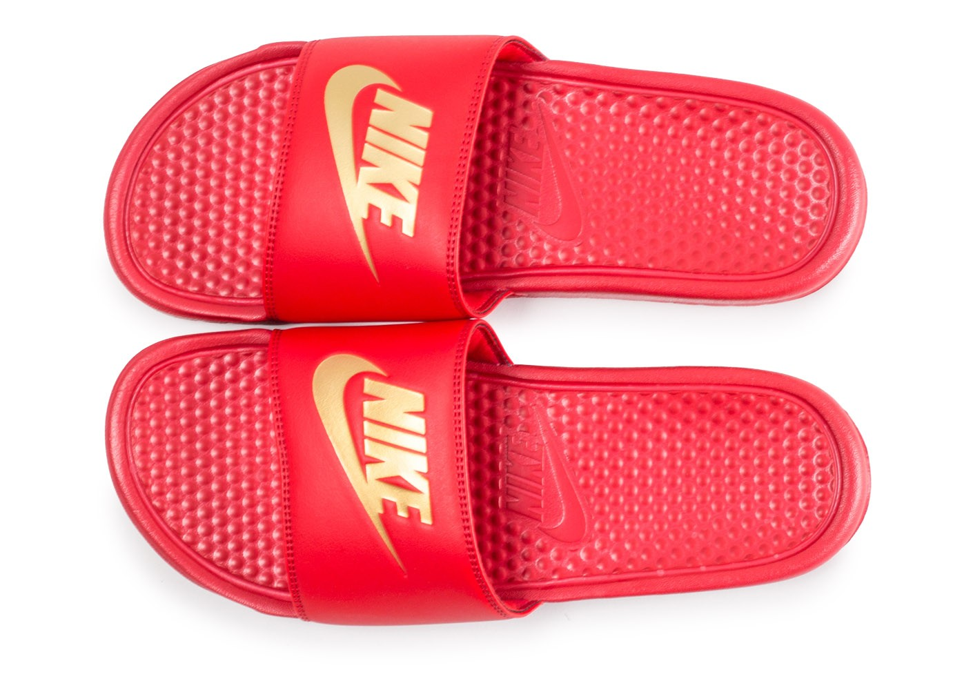 best prices online for sale low cost Nike Sandales Benassi Just Do It rouge et or - Chaussures ...