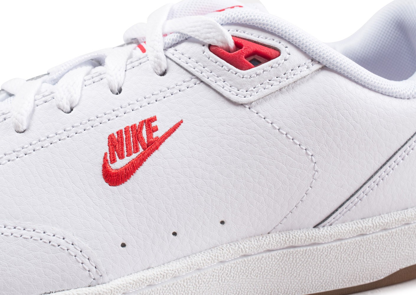 quality design 177e0 29caf ... Chaussures Nike Grandstand 2 Premium blanche et rouge vue dessus